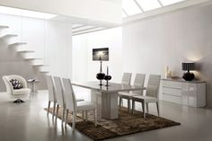 Modern Dining Area Dining Area, Conference Room, Modern, Table, Furniture, Home Decor, Trendy Tree, Meeting Rooms, Tables