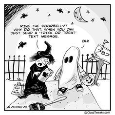 Halloween Comic - The Lighter Side Of The Cloud - Halloween Text Message