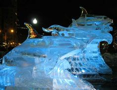 Orca ice sculptures!