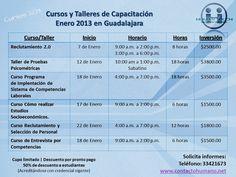 Cursos y Talleres Enero 2013 #GDL