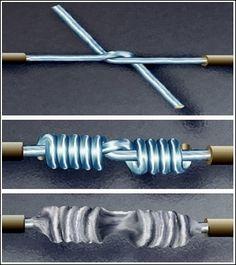 Splice wires to Nasa's Standards.