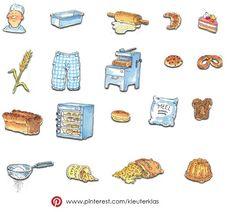 Plaatjes thema 'Bakker' (tekeningen van Dagmar Stam)
