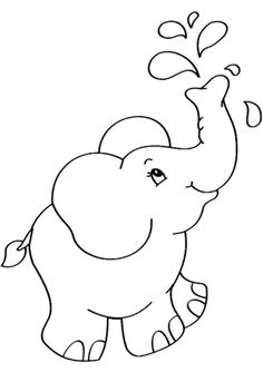 Cartoon Elephant coloring page from Elephants category. Select from 31983 printable crafts of cartoons, nature, animals, Bible and many more. Fruit Coloring Pages, Cute Coloring Pages, Cartoon Coloring Pages, Animal Coloring Pages, Free Printable Coloring Pages, Free Coloring, Coloring Sheets, Adult Coloring, Free Printables