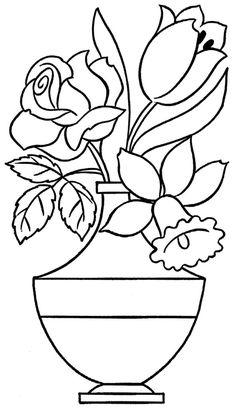 pintura-em-tecido risco tulipa rosa