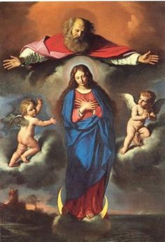 'The Immaculate Conception' by Giovanni Francesco Barbieri (Il Guercino), 1656 Blessed Mother Mary, Blessed Virgin Mary, Religious Images, Religious Art, Immaculée Conception, Religion, Images Of Mary, Queen Of Heaven, Mama Mary