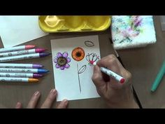 ▶ Zig Clean Brush Water Color Markers - How to #TheDailyMarker30Day2 - YouTube
