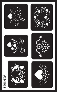 reusable glass etching stencils- assorted                                                                                                                                                                                 More