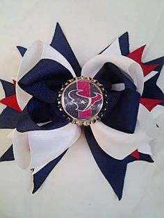 Houston Texans Bow by BellarcoBowtique on Etsy, $8.00