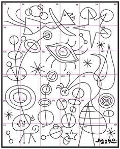 Joan Miro Mural · Art Projects for Kids - Kunstunterricht Art Lessons For Kids, Projects For Kids, Art For Kids, Art Projects, Art Children, Arte Elemental, Joan Miro Paintings, Art Worksheets, Ecole Art