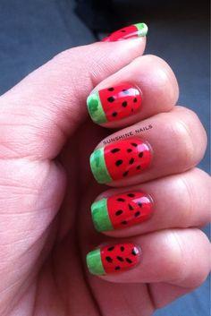 Watermelon Nail Art by Sunshine Nails
