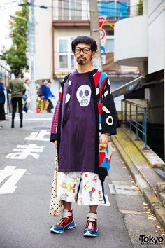 833147f1 Harajuku Guy in Colorful Fashion w/ Henrik Vibskov, HEIHEI & Satoru Tsuda x  Galaxxxy