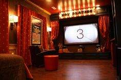 Theater Room. Red!