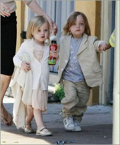 Happy Birthday! Angelina Jolie and Brad Pitt's twins, Vivienne and Knox! Can you guys believe the little ones are 7 years old already!!  The husband-and-wife duo celebrated the 7th birthday of their twins, Vivienne and Knox this past Sunday, July 12, at an ice-skating bash in L.A.'s Van Nuys neigh