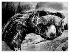 Big Black Bear by ~theviljackass on deviantART