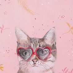 cat painting cat art pink wall art decoration girl by inameliart, $89.00