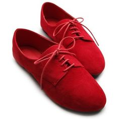 Ollio Womens Ballet Flat Loafers Faux Suede Oxford Lace Ups ...