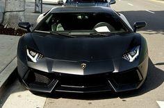 Matte Black Lamborghini Aventador (1 of 3; click image to see more photos)