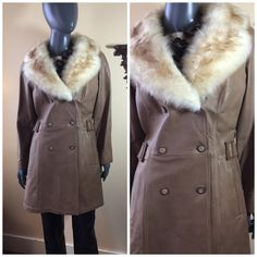 60s Leather extra 50% off  Coat, 1960s Mod leather 1970s, Mini Coat Almost Famous volume fur collar by 3GenerationCuration on Etsy Vintage Fall, Vintage Coat, Vintage Leather, Faux Fur Collar, Fur Collars, 1970s Clothing, Coat Sale, Almost Famous, Denim Coat