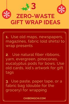 Have a sane and zer0-waste holiday this year and many thereafter. Here's your 3 tips for gift wraps & bows. Join our Minimalism + Eco-Conscious Community and get more tips on how to live the life of simplicity and joy! https://www.chibeingchi.com/minimalist-blogs/