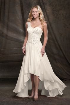 Discover the best and unique wedding Dresses from Mary's bridal collection. Choose your dream bridal wedding dresses from the wide variety of styles, fabrics, necklines, silhouettes and many more. Informal Wedding Dresses, Wedding Dresses For Sale, Wedding Dress Shopping, Bridal Wedding Dresses, Wedding Attire, Bridesmaid Dresses, Wedding Dressses, Hi Lo Wedding Dress, Tea Length Wedding Dress