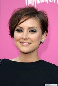 jessica stroup short hair.