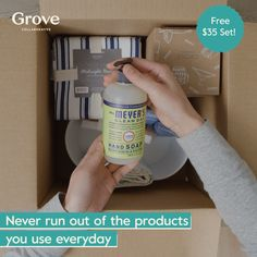 Sign up and discover the best healthy home products at great prices, delivered right to your door. You'll get a free $35 Mrs. Meyer's cleaning set with your first order! Grove is a customizable service that delivers home, beauty and personal care products from top brands like Mrs. Meyers, Seventh Generation and Method. Everything available at Grove has met our standards for non-toxicity, efficacy, and is cruelty-free. Daily Cleaning, House Cleaning Tips, Cleaning Hacks, Home Cleaning Remedies, Homemade Cleaning Supplies, Natural Cleaners, Simple Life Hacks, Bathroom Signs, Natural Cleaning Products