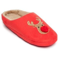 New Directions  Reindeer Path Clog Slipper ($28) ❤ liked on Polyvore featuring shoes, slippers and christmas