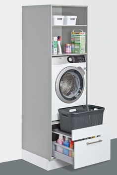 Utility room ideas from Schuller, solutions for everything – even in a small space. Fitted furniture for your laundry, cleaning, storage and recycling. – The post Utility room ideas from Schuller, solutions for ev… appeared first on Best Pins for Yours. Small Laundry Rooms, Laundry Room Organization, Laundry Room Design, Laundry In Bathroom, Bathroom Storage, Kitchen Storage, Small Bathrooms, Small Utility Room, Utility Room Storage
