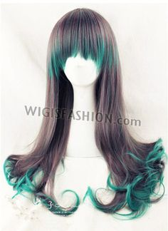 039 Japanese Style Long Curly Green Mixed Brown Hair Wig Style Code: PL267 Color: Green Mixed Brown Size: One size Length: 26.8 inches or 68cm Material: Japanese synthetic fiber Heat Resistant: 150C heat resistant Delivery Time: 10 - 20 working days Delivery Courier: Hong Kong Post Air Mail