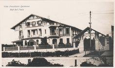 Villa Presidente Quintana enviada por Carmen Capetolo. La residencia fue construída en 1917 y se hallaba en Avenida Colón entre Viamonte y Mendoza.