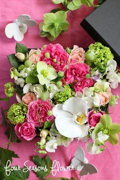 春のBOX ARRANGEMENT! の画像 東京・世田谷・二子玉川・自由ヶ丘のパリスタイルのフラワーアレンジメント教室Four Seasons Flowerフォーシーズンズフラワー