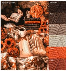 Yarn Color Combinations, Color Schemes Colour Palettes, Beautiful Color Combinations, Colour Pallete, Fall Sewing, Color Collage, Color Harmony, Coordinating Colors, Diy Embroidery