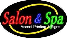 Salon & Spa Flashing Handcrafted Real GlassTube Neon Sign