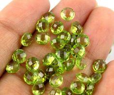 20 Pieces Natural Peridot Round Shape 5mm 12.50Cts Briolette Cut Loose Gemstone #Raagarw