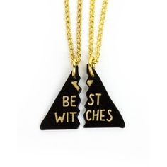 Best Witches Besties Necklace NYLON ($26) ❤ liked on Polyvore featuring jewelry, necklaces, chains jewelry, long charm necklace, charm chain necklace, charm necklaces and chain necklace