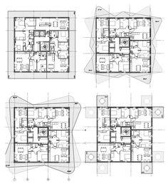 Today's proposal: Quai de Queyries, Bordeaux by ecdm Architecture Plan, Residential Architecture, Bordeaux, Hotel Floor Plan, Landscape And Urbanism, Office Plan, Apartment Plans, Urban Planning, Building Plans