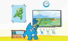 Droppie Water in de klas - Digitale lessen voor groep 3 t/m 8 over het belang van water. Van de waterkringloop tot het schoonmaken van rioolwater. Meer info www.podiumvooronderwijs.nl/droppie-water-in-de-klas.