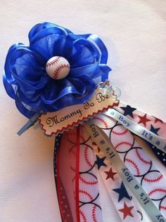 Baseball Mommy To Be Corsage Grandma to Be Corsage Baseball Theme Baby Shower Corsage Its a Boy Royal Blue Fabric Flower Corsage on Etsy, $15.00
