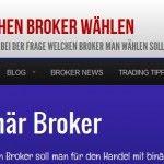 Neue Seite für Broker-Vergleich
