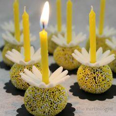 Daisy Birthday Truffles   Fun Family Crafts Birthday Celebration, Birthday Party Themes, Recycled Crafts Kids, Crafts For Kids, Birthday Treats, Birthday Recipes, Edible Crafts, Torta Baby Shower, Daisy Cakes