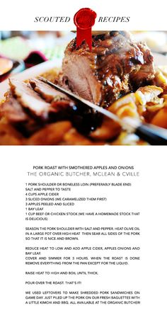 Pork Roast with Smothered Apples and Onions