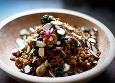 Farro Recipes: Dishes Using The Ancient Grain  Moroccan Farro With Kale, Pomegranate And Almonds