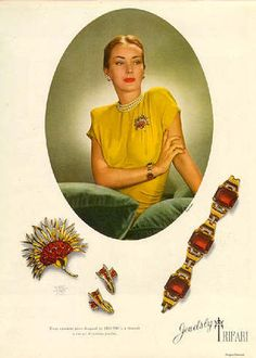 Vintage ads for Trifari costume jewelry
