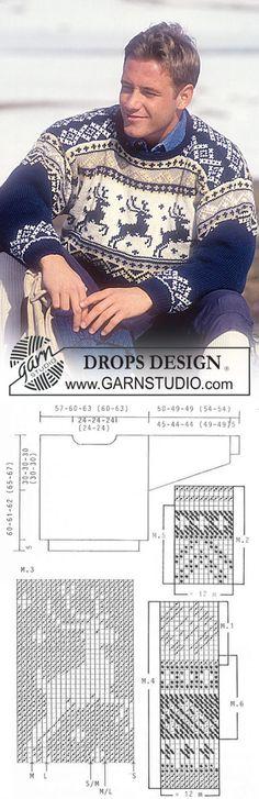 DROPS Sweater and hat in Karisma Superwash with reindeer ~ DROPS Design | вязание(жаккард,вышивка) | Постила