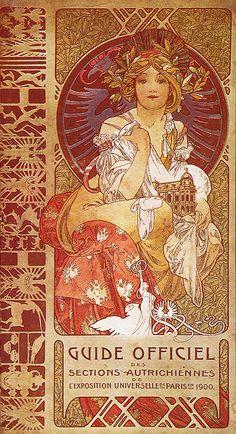 Art Nouveau Guide Officiel Des Sections Autrichiennes De L 'Exposition Universelle De Paris, 1900.