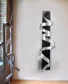 Modern Abstract Metal Art Sculpture Decor Silver Wall Art Original By Jon Allen