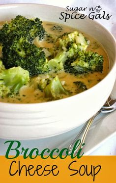Spice Gals: Broccoli Cheese Soup