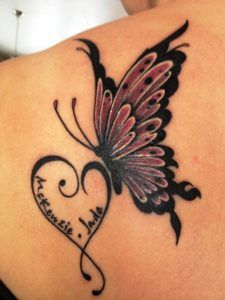 Butterfly Tattoos with Names