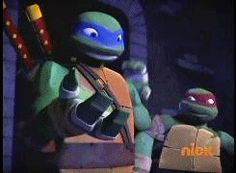 Raph don't even think about it XD Raph: your turn come here *chases me around* me: *runs and laughs*