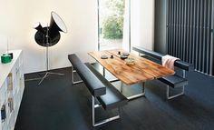 Loft Bench moderne Sitzbank auf Maß, Leder